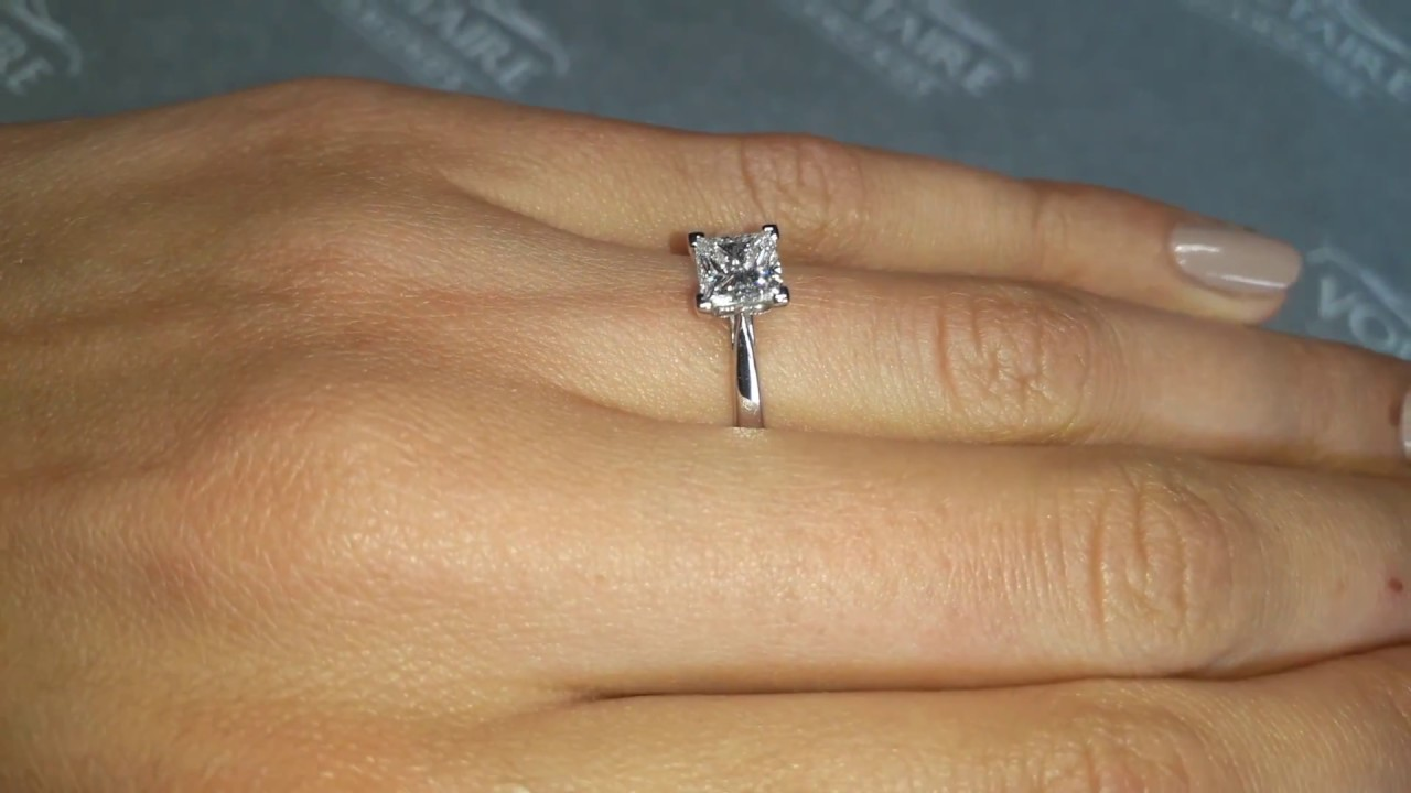 Princess-Cut-Diamond-Solitaire-Engagement-Ring-with-Thin-Tapered-Band-ER-1019