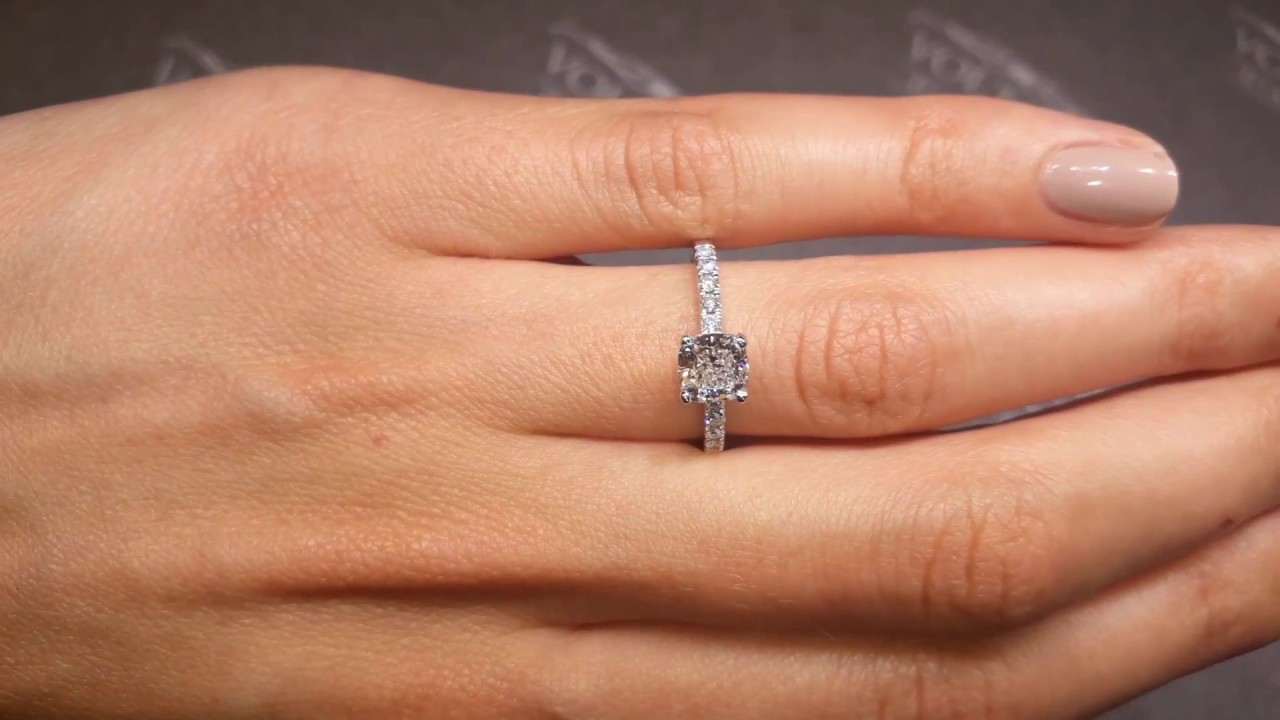 Square-Cushion-Cut-Diamond-Solitaire-Engagement-Ring-with-Scallop-Set-Band-ER-1401